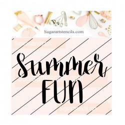 Summer fun cookie stencil JB91