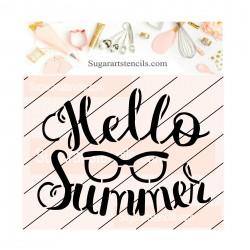 Hello Summer cookie stencil...