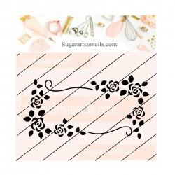 Flower frame cookie stencil...