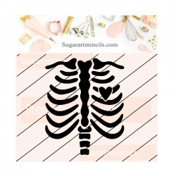Skeleton cookie stencil JB128