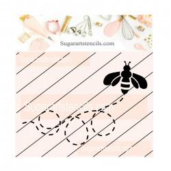 Bee cookie stencil JB130