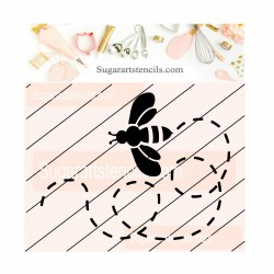 Bee cookie stencil JB131