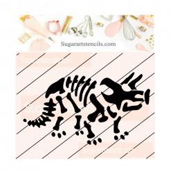 Dinosaur cookie stencil JB133