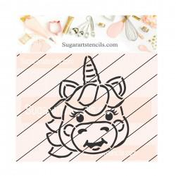 Unicorn PYO cookie Stencil...