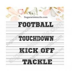 Football sport words...
