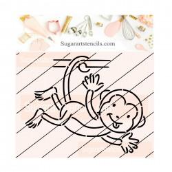 Monkey PYO cookie Stencil...