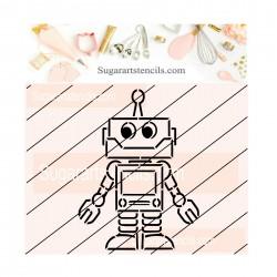 Robot PYO cookie Stencil JB176