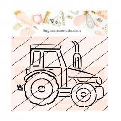 Tractor PYO cookie Stencil...